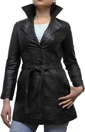 Brandslock Women Leather Jacket Genuine Sheepskin Blazer Coat