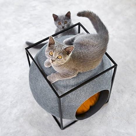 Cama para mascotas, cubo para gatos, diseño redondo