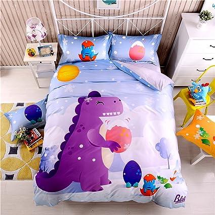 Copriletto Letto Singolo Bambino.Trapunte Biancheria Da Letto Per Bambini Coperte Cartoon Dinosaurs