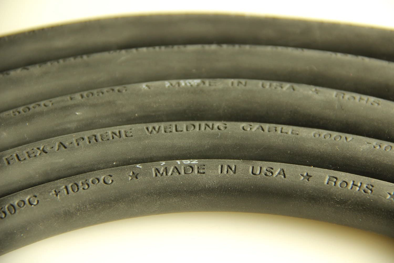 and 5 Copper Lugs 100 Feet 1//0 Gauge Black Crimp Supply Ultra-Flexible Car Battery//Welding Cable