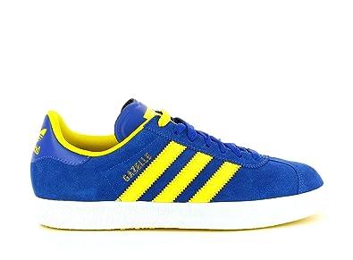 adidas chaussure bleu marine et jaune