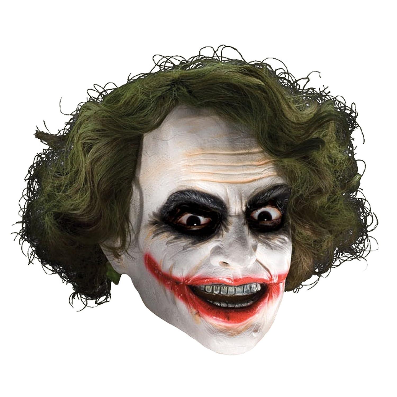 Joker 3/4 Vinyl Mask W Hair