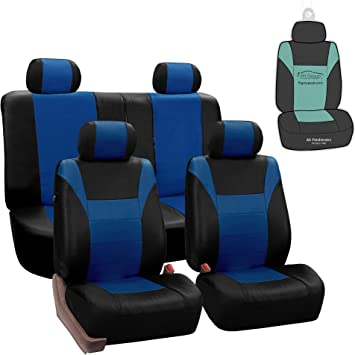 Luxury BLUE//BLACK Leather Look Car Seat Covers Full Set VW Scirocco