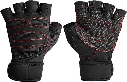 Weight Lifting Neoprene Gloves Gym Fitness Half Finger Fingerless Sports NEW