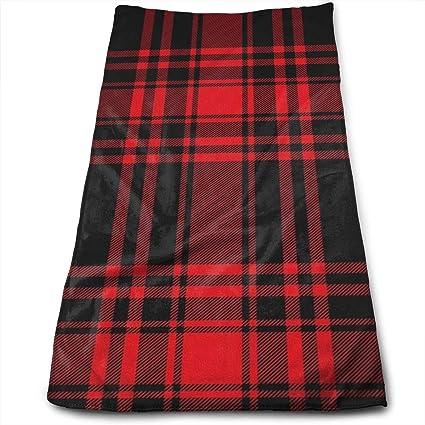 Amazon.com   OLOSARO Black and Red Plaid Sports Towel Travel Multi ... 022a90e026