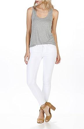5c47d504f81 Image Unavailable. Image not available for. Color: PAIGE Verdugo Crop  Skinny Jeans W/Undone Hem, Crisp White ...