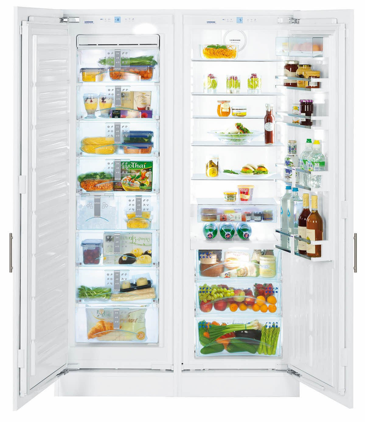 Liebherr SBS 70i4  Integrated 518L A + + White Side-by-Side Refrigerator  –   Fridge Side-by-Side (Built-in, White, American Door, LED, Touch, LCD)