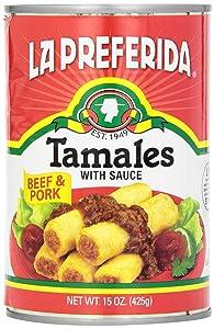 La Preferida Canned Tamales, Beef & Pork, 15-Ounce (Pack - 6)