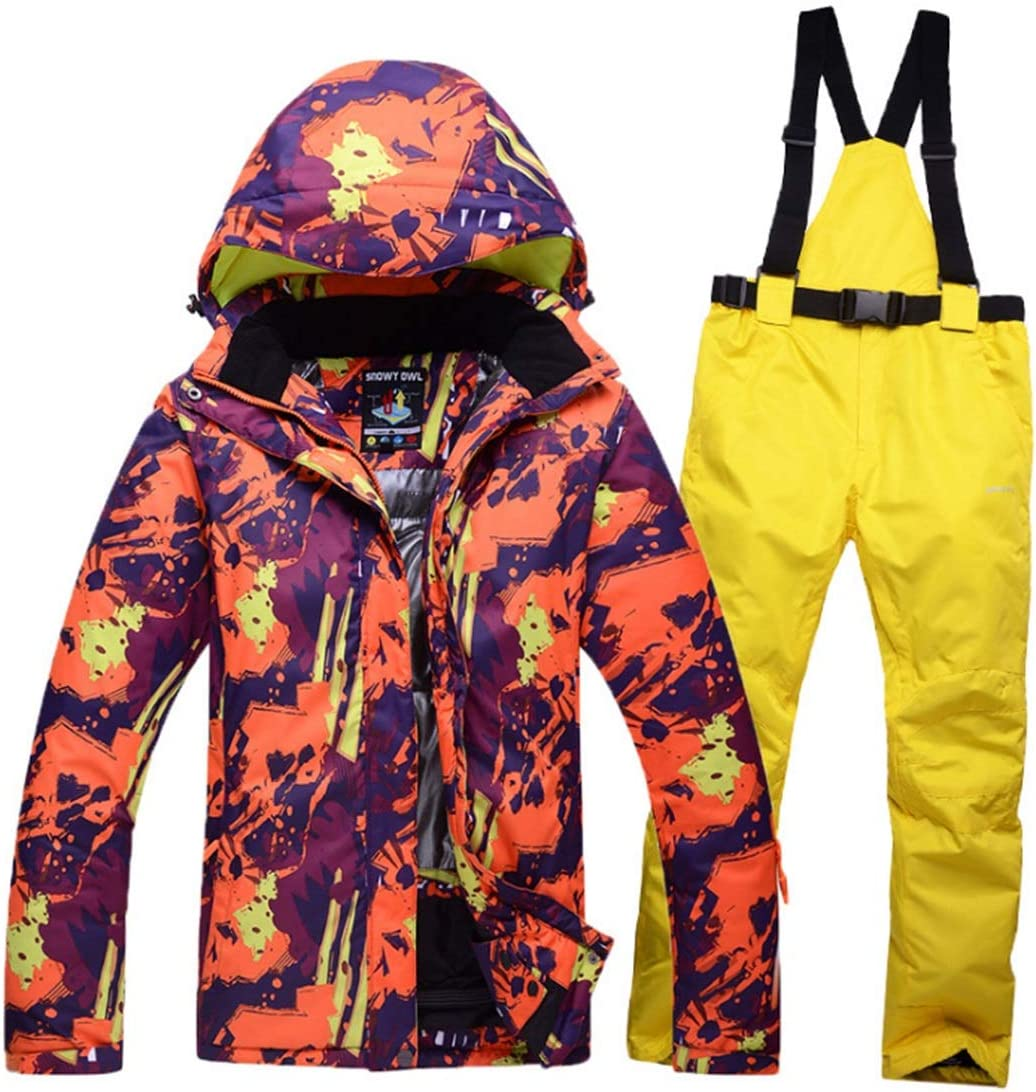 CAFUTY メンズ&レディース防水通気性スノーボードスキージャケット  Medium