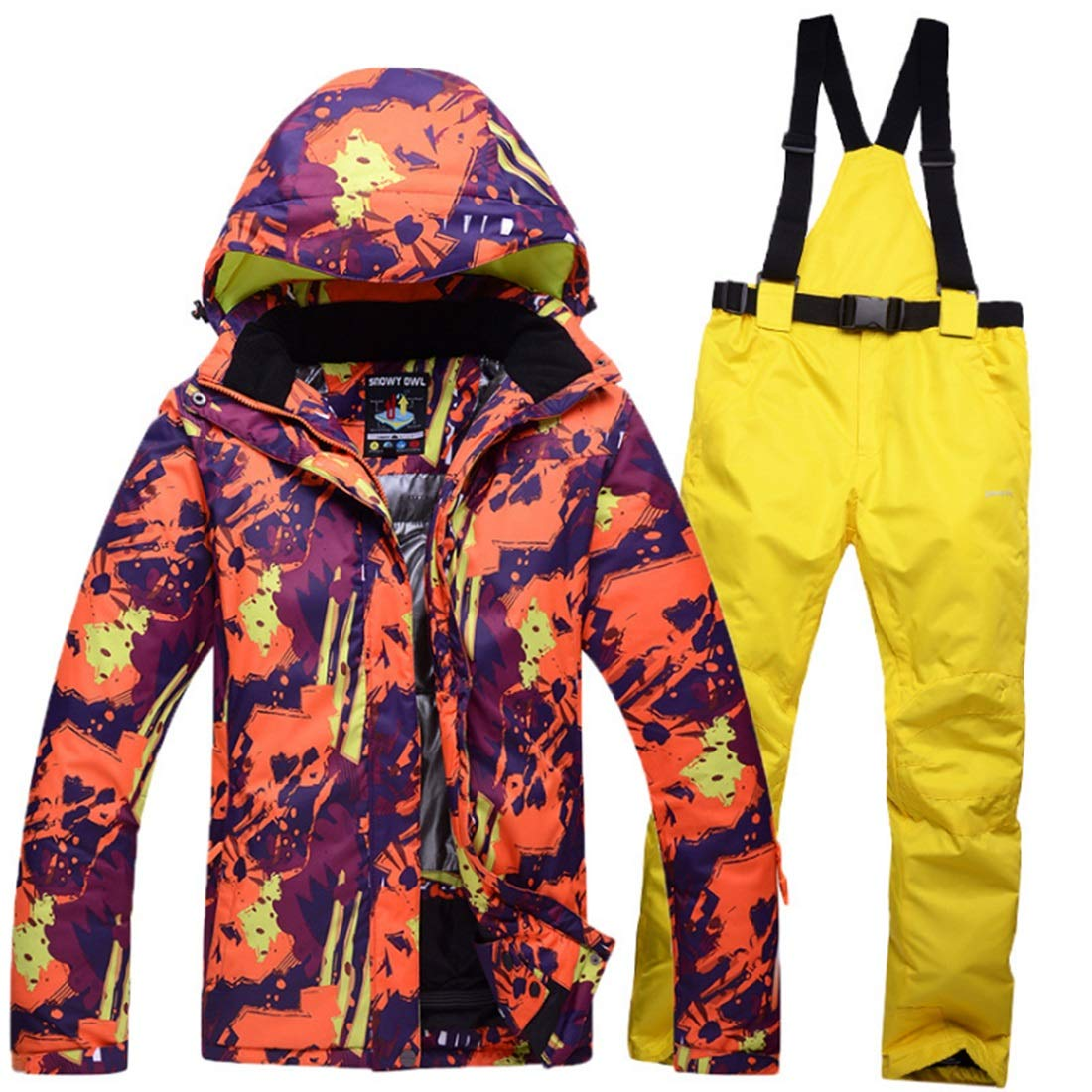 Jhcpca メンズ&レディース防水通気性スノーボードスキージャケット  L