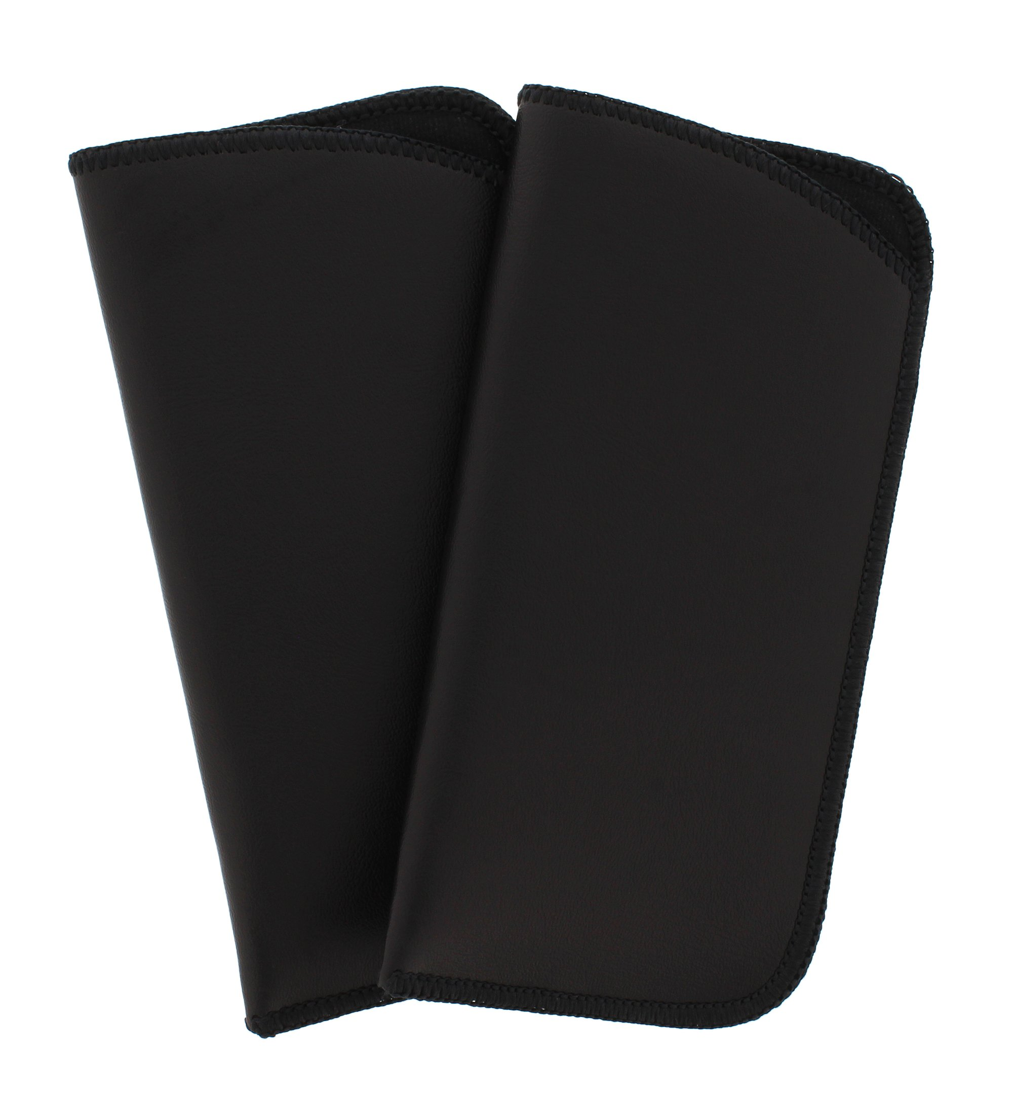 2 Pack Soft Faux Leather Slip In Eyeglass Case, Fits Medium to Large Frames, Black by Ear Mitts