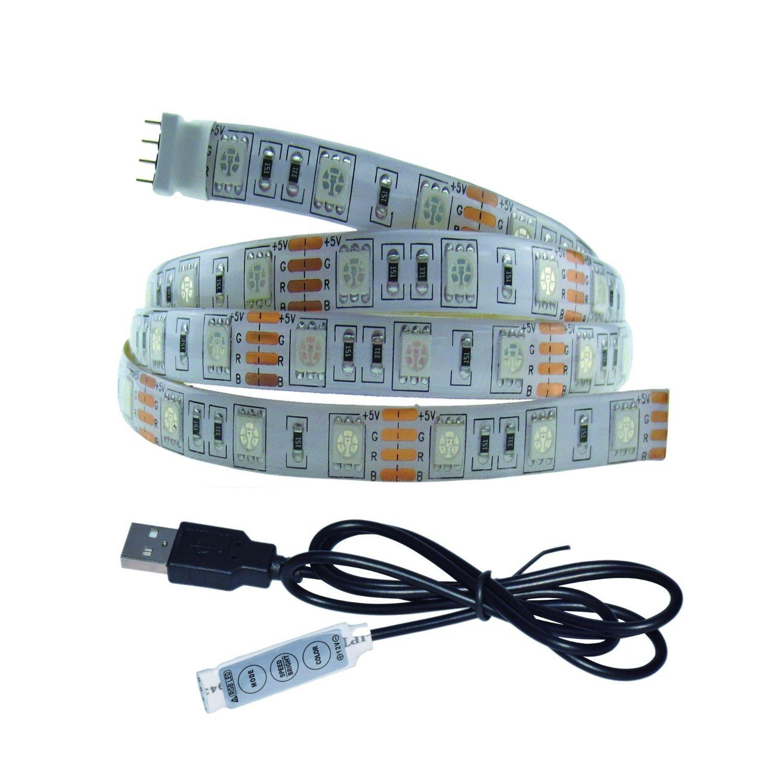 Wasserdicht 100 cm (99,1 cm) 5050 SMD 5 V weiß PCB USB RGB LED ...