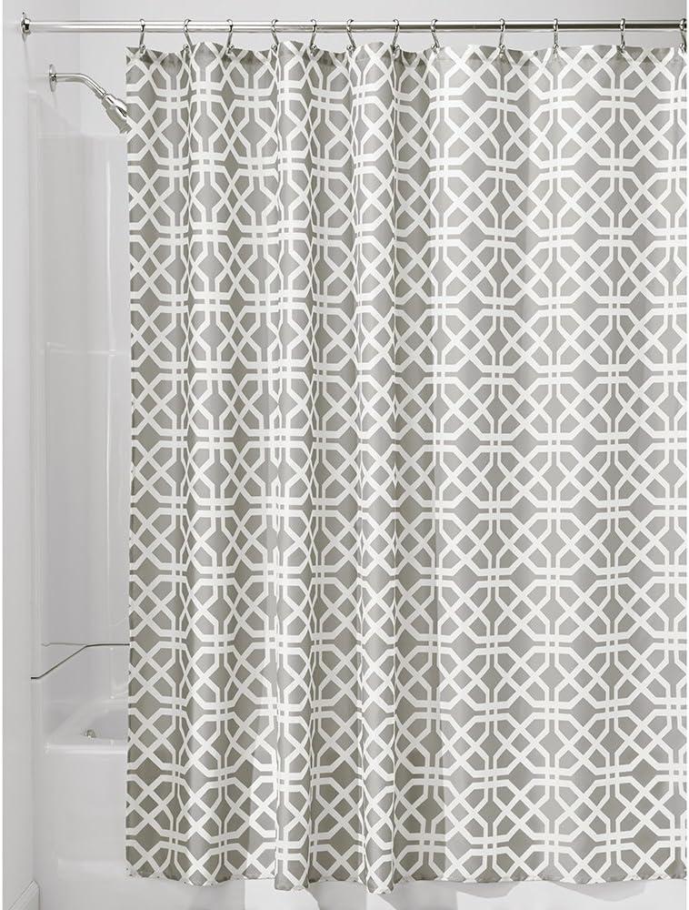 cloison douche /à motif treillis beige InterDesign Trellis rideau de douche textile 183,0 cm x 183,0 cm rideau douche et baignoire en polyester