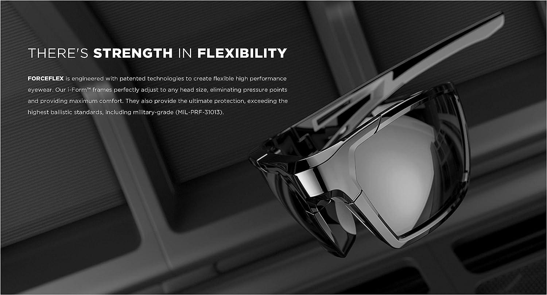 100/% UV Protection ForceFlex FF500 Sunglasses Black Anti-Scratch Very safe