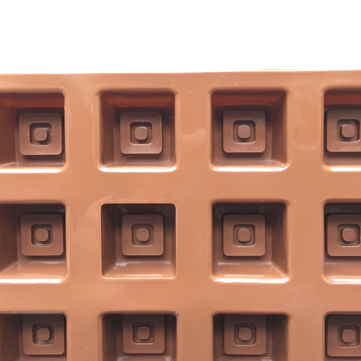 2pcs 15-Cavity Silicone Squares Chocolate Molds for Baking Crafting SOSOHOME0096 Cookies Candy Ice Cube