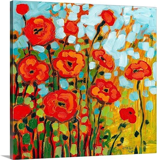 Poppy Field Canvas Wall Art prints high quality