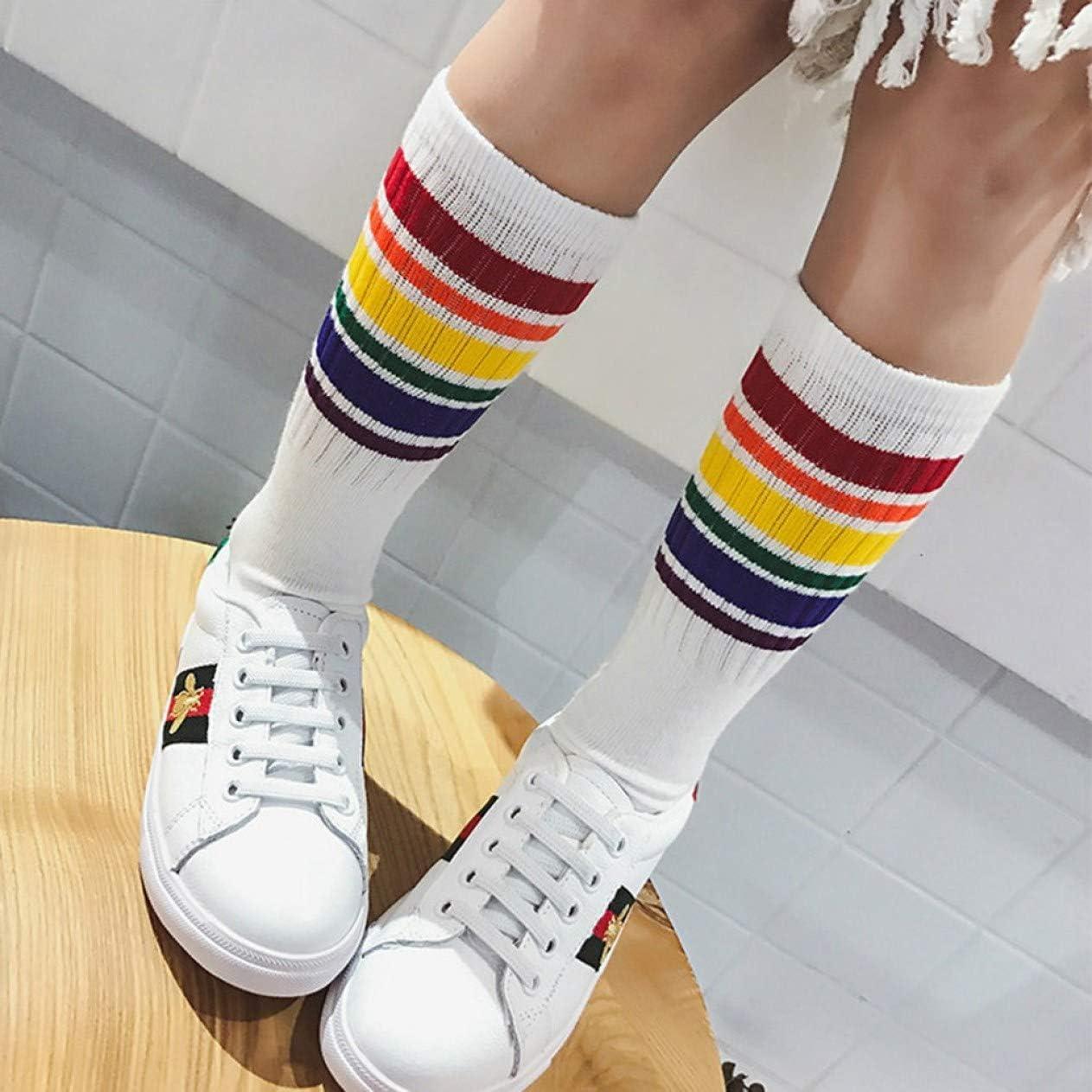 WT-L calcetines de algod/ón calcetines para ni/ños. jinwo Lindos arcoiris rayados