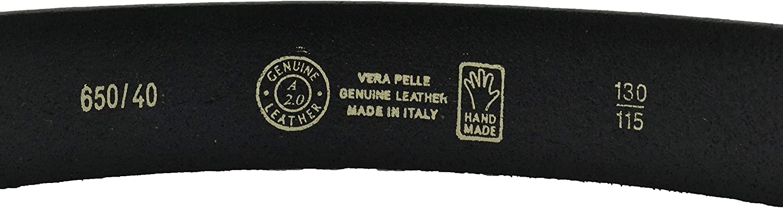 Accorciabile alta 4cm Senza Cuciture CONTE MASSIMO Cintura Uomo In Cuoio