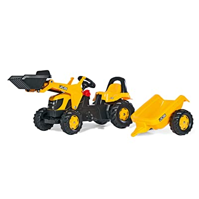 Rolly Toys JCB Kid-X Front Loader Tractor, Yellow: Toys & Games