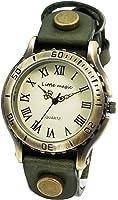 【リトルマジック】アンティーク 風 腕時計 メンズ レディース イタリアンレザー 日本メーカー製クオーツ 本革