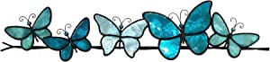 Eangee Home Design Butterflies On A Wire Wall Decor Sea Blue 28 Inches Length x 1 Inch Width x 7 Inches Height (m2020 sb)