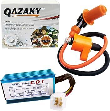 5-pins CDI+Ignition Coil+Spark Plug 50-160cc 4-stroke ATVs Pit Dirt bikes USA