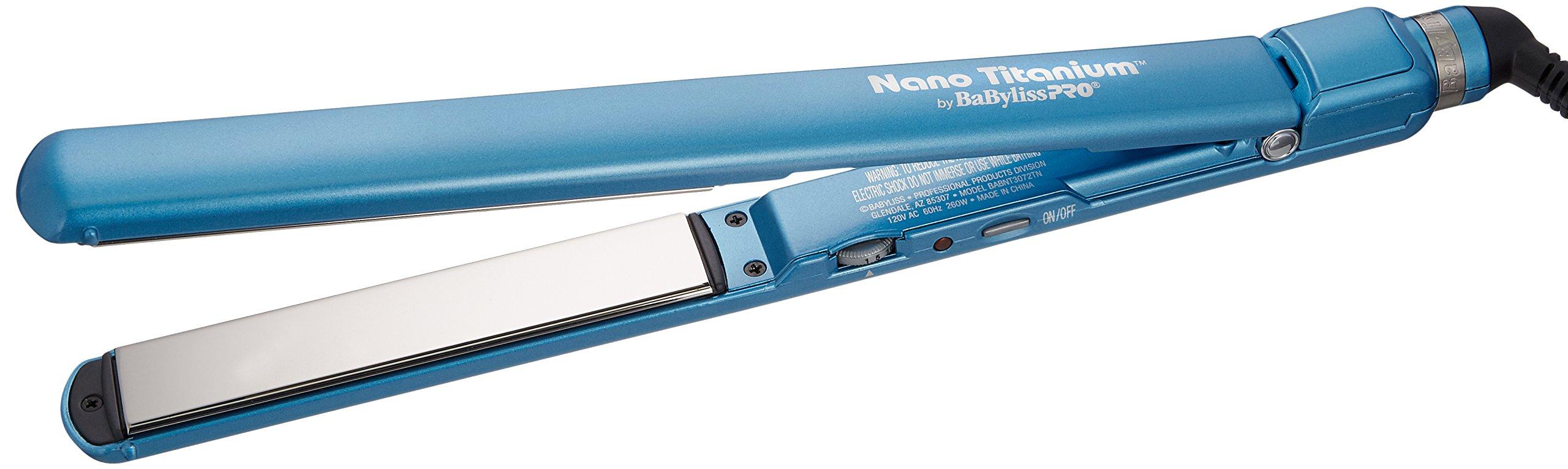 BaByliss Pro BABNT3072 Nano Titanium-Plated Ultra-Thin Straightening Iron, 1 Inch by BaBylissPRO (Image #2)