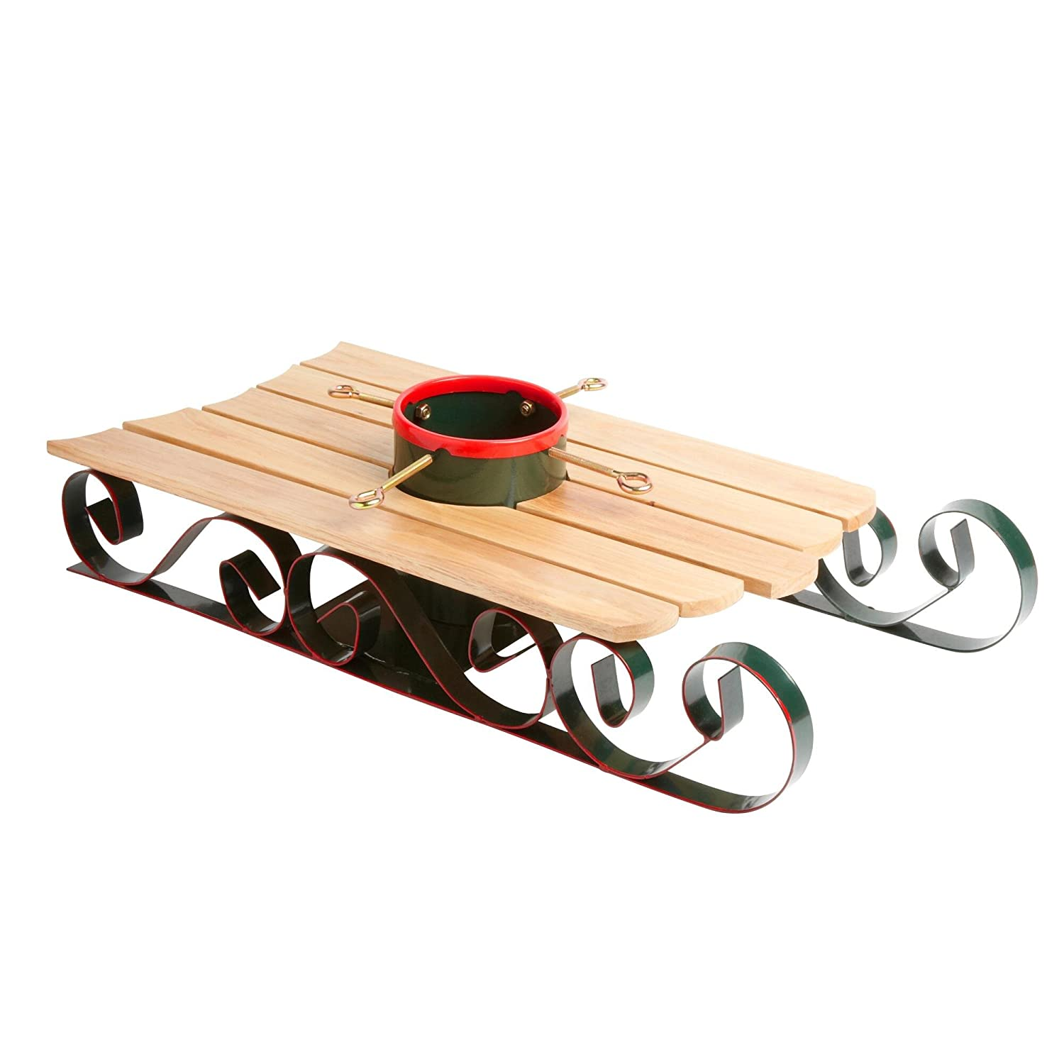 Large Christmas Tree Stand Amazoncom Sled Christmas Tree Stand Holder By Nantucket Home