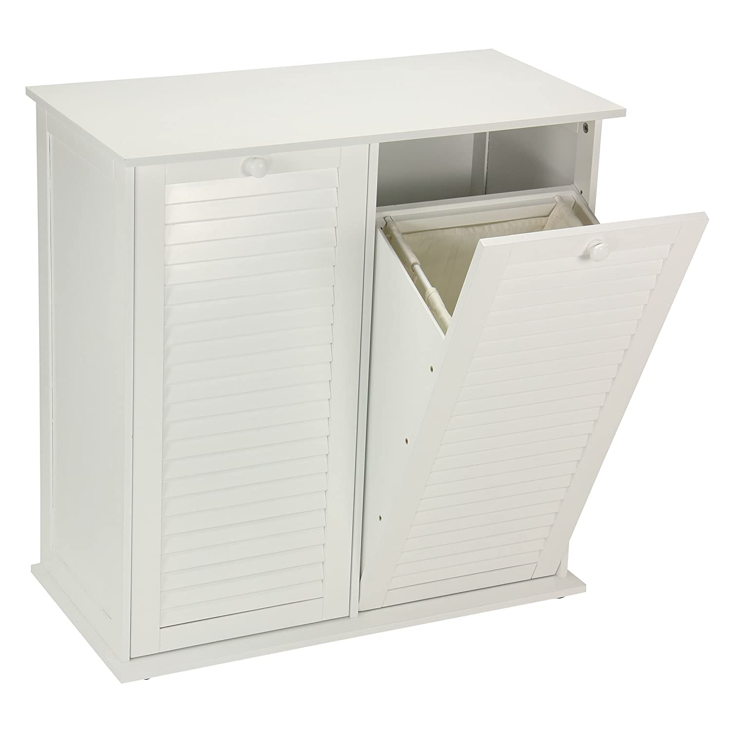 Amazon.com: Household Essentials Tilt Out Laundry Sorter Cabinet With  Shutter Front: Home U0026 Kitchen