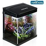 Nobleza - Acuario de Cristal con Cubierta y Luces LED. Sistema de Filtro de 14 litros. Color…