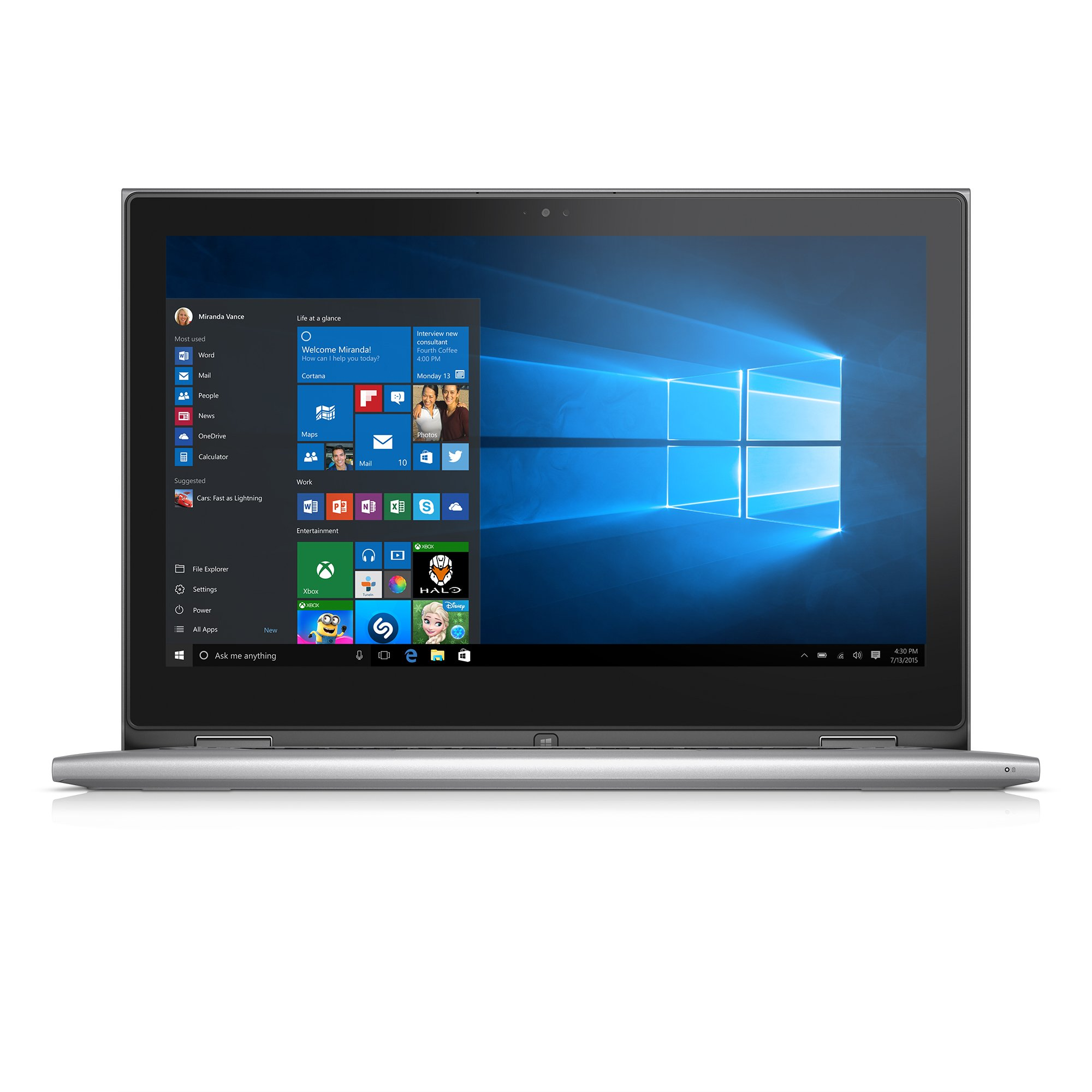 Dell Inspiron i7359-8404SLV 13.3 Inch 2-in-1 Touchscreen Laptop (6th Generation Intel Core i7, 8 GB RAM, 256 GB SSD) by Dell