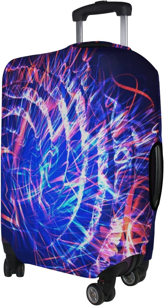 Mahu Travel Luggage Cover Cool Blue Galaxy Space Suitcase Protective Cover Washable Spandex Fit for 18-32 Inches