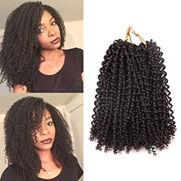 6 Bundles Bohemian Style Short Afro Kinky Curly Hair Wefts 10 Inches Synthetic Hair Weaves 10 4 10inch 4