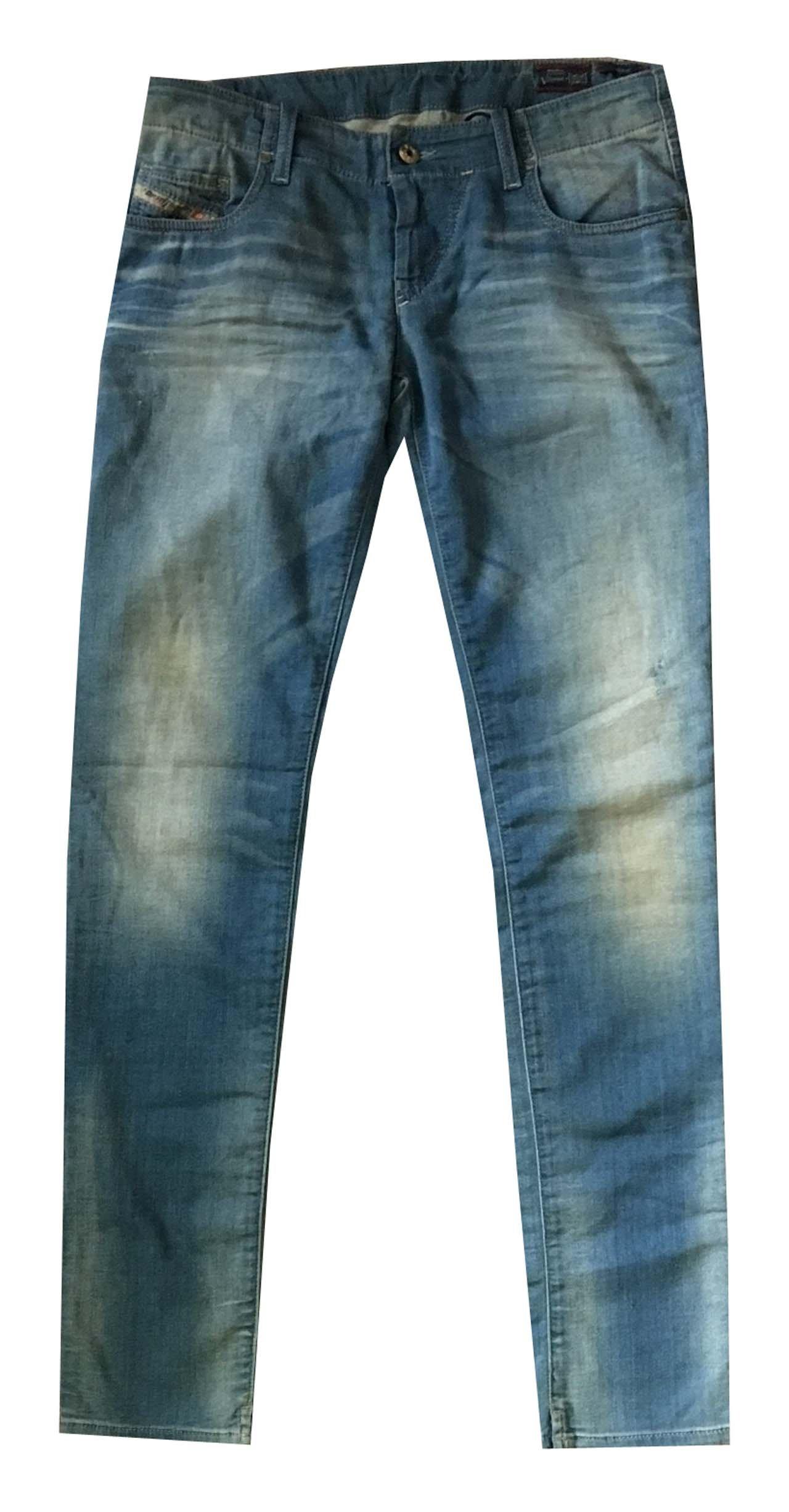 Diesel Women Grupee-NE Skinny Jeans (23x34, Blue wash)