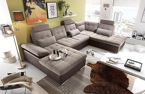 Lifestyle4living Ecksofa Sofaecke Wohnlandschaft Couch U Form
