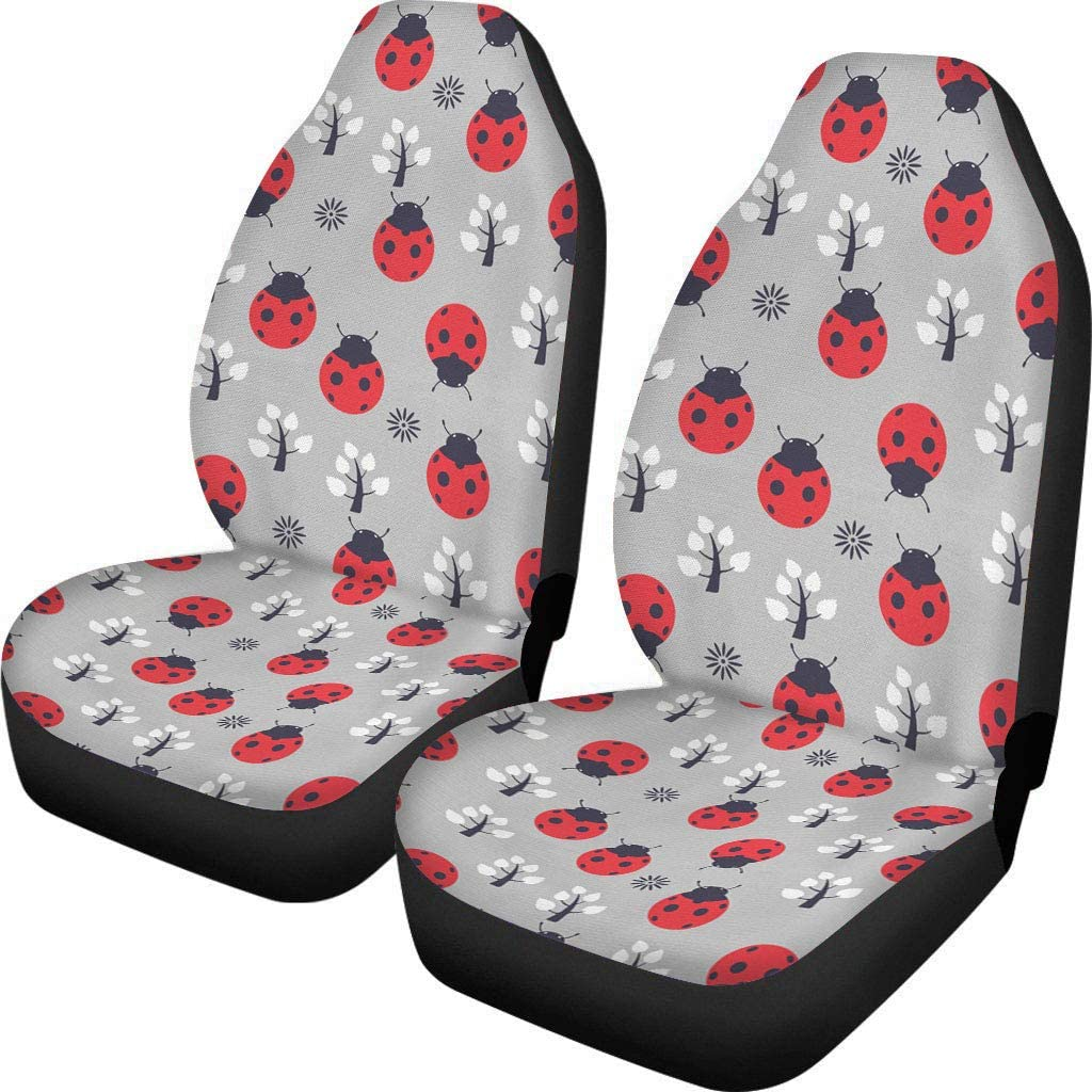Front Seat Covers Only 2 PCs Butterfly Printed Car Seat Covers Car Seat Covers for Women Fit for Most Car Truck SUV