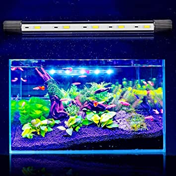 Jiobapiongxin Tanque de Peces de Acuario Luz LED de Uso Anfibio 5730 Lámpara LED Sumergible de
