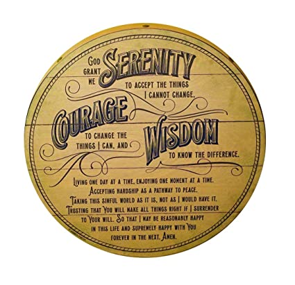Amazon com: Abbey Gift Serenity Prayer Barrel Plaque: Home & Kitchen
