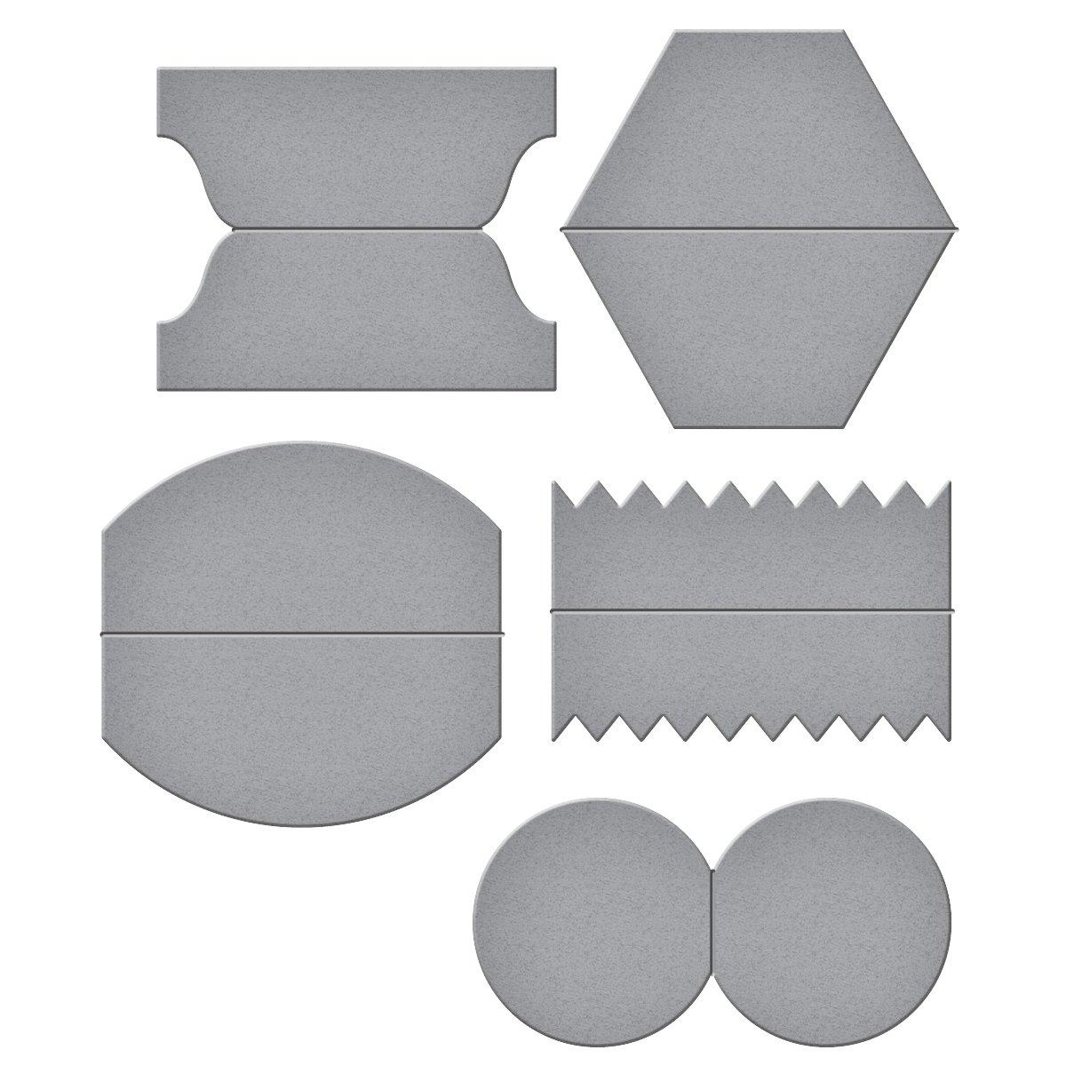 Spellbinders-Fustella a forma di abilità Tab Set One-Fustella, in metallo, colore: marrone S4-633