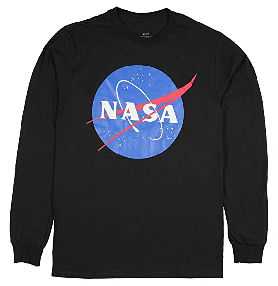 a87a815a NASA Long Sleeve Shirt Meatball Logo Space Shuttle Rocket Science Geek Tee  | Amazon.com