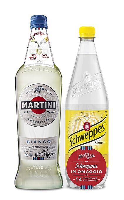 3 opinioni per Martini Aperitivo Bianco con Tonica Schweppes in Omaggio- 2000 ml