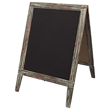 Well-liked Amazon.com : Free Standing Chalkboard Sign with Easel Stand with  RU96
