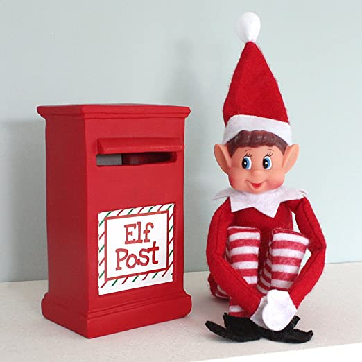 Amazon Com Ebuygb 12 Elves On Shelves Elf With Post Box Report Cards Christmas Xmas Stocking Filler Toy Naughty Nice Santa Home Kitchen