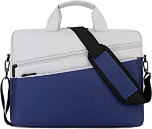 13.3-14.8 inches Lightweight Laptop Shoulder Bag Handbag,Suitable for MacBook, Lenovo, Acer, ASUS, Dell Hp and Other Notebook Computer Carrying Cases Briefcase (13-14 inch Large, Blue)