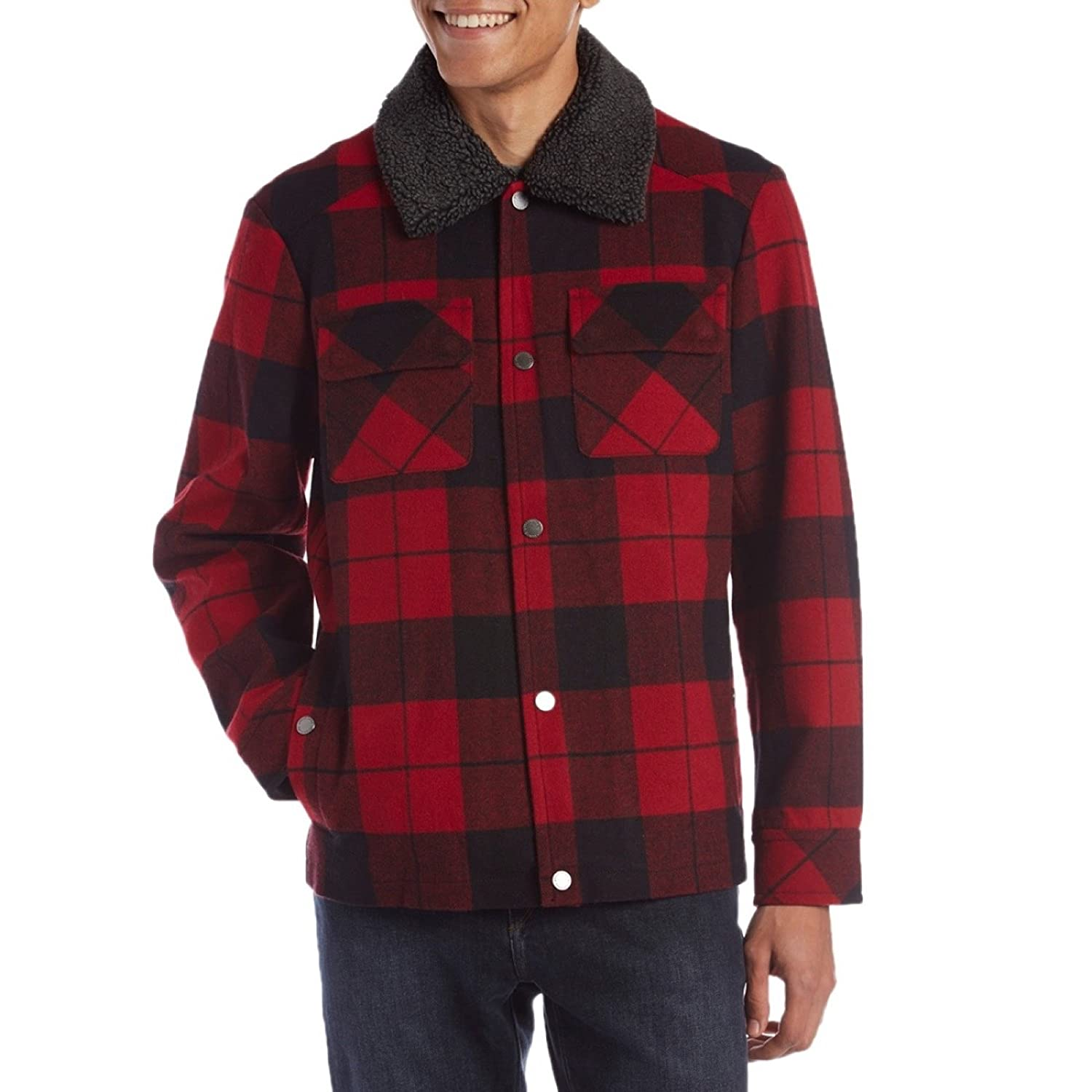 Men's Vintage Style Coats and Jackets Pendleton Mens Rock Springs Coat $259.00 AT vintagedancer.com
