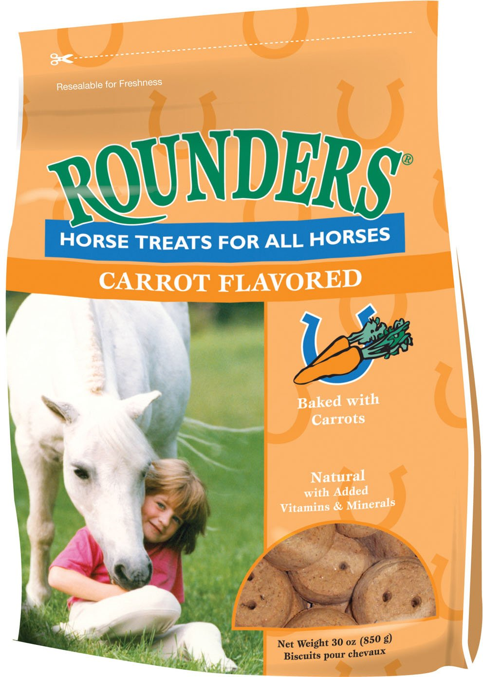 Kent Nutrition Group-Bsf 1536/428 Carrot Rounder'S Horse Treat, 30 Oz by KENT NUTRITION GROUP/BSF