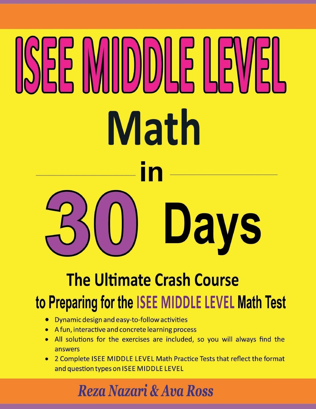 Download ISEE Middle Level Math in 30 Days: The Ultimate Crash Course to Preparing for the ISEE Middle Level Math Test pdf