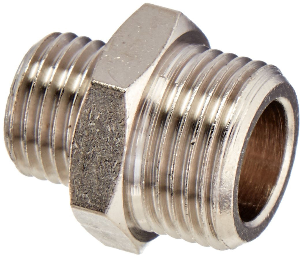 G1//8 Parker 0901 13 17-pk5 Adaptor G1//4 BSPP Male Pack of 5 Nickel Plated Brass