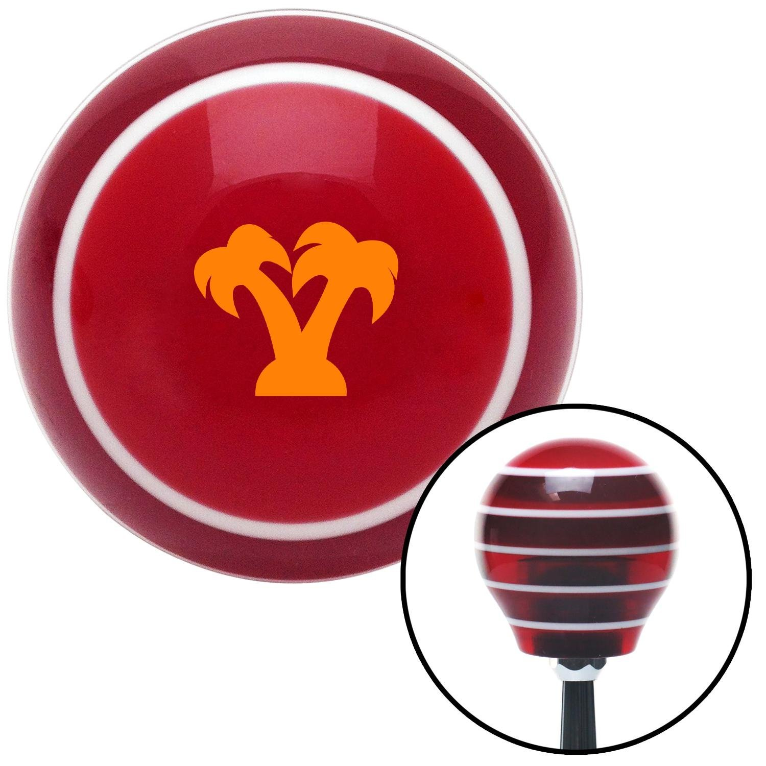 Orange Palm Trees Red Stripe with M16 x 1.5 Insert American Shifter 273942 Shift Knob