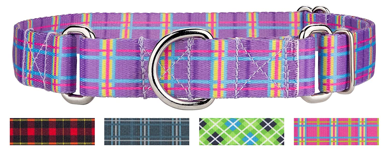Grape Plaid Medium, 1 Inch Wide Grape Plaid Medium, 1 Inch Wide Country Brook Design   1 Inch Grape Plaid Martingale Dog Collar Medium